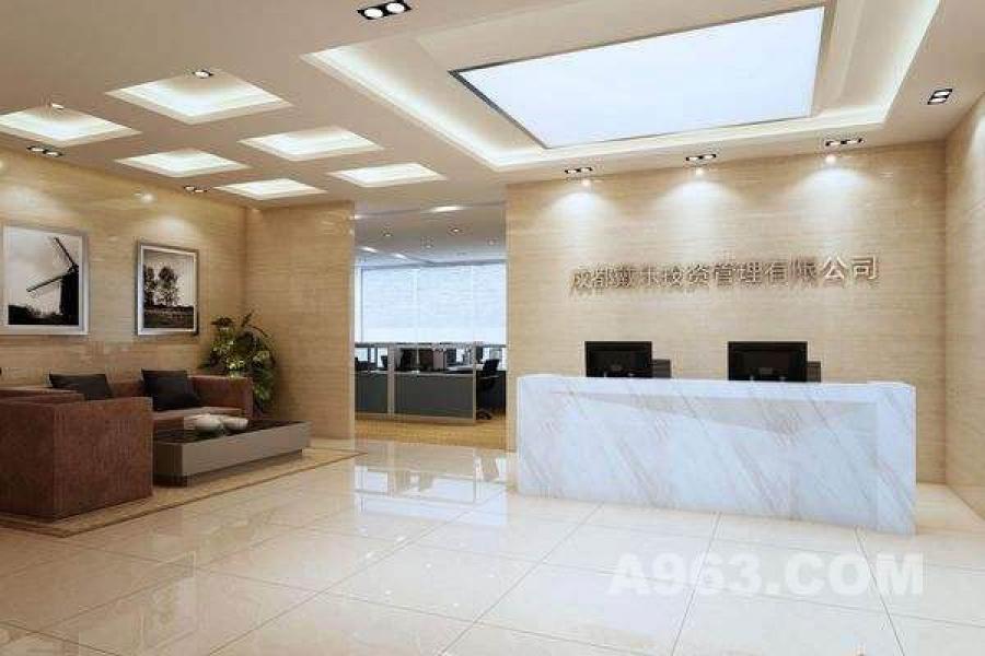 成都办公室装修设计,柏尼建筑装饰-投影面积-第2空间的办公规则计算衣柜图片