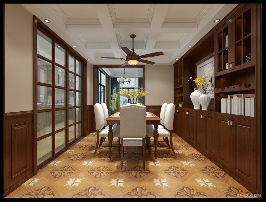 餐厅,蔡林设计,文峰宝邸,美式