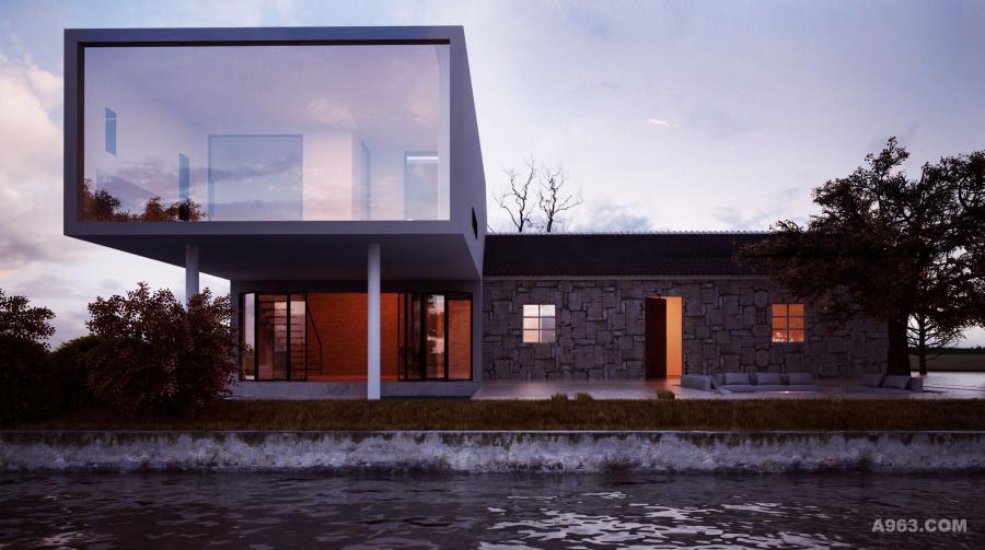 第二个时光盒子比正房更高更大,象征着80后的我们,已成为家里的支柱,已有能力保护好父母,将新老建筑直接穿插,在新建筑中就可以看到老房子完整的轮廓,伸手就可以触摸到老房子的沧桑。