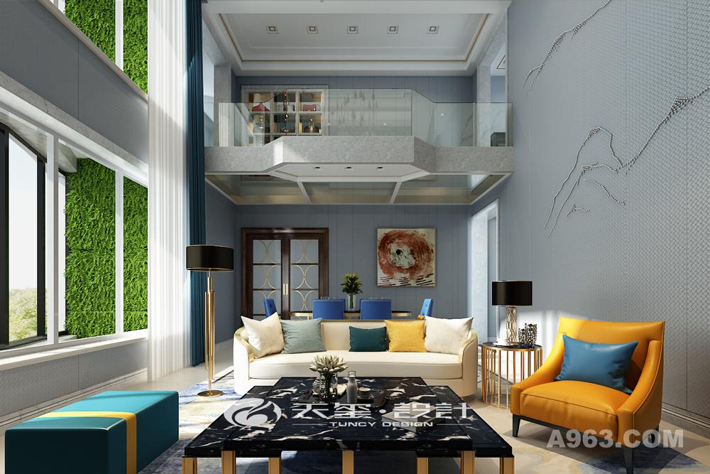 家具多采用金色镜面不锈钢、钢琴漆、大理石等突出高贵。