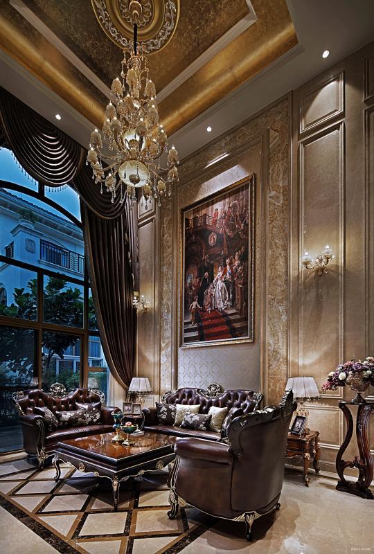 将独有与室内设计元素推拉出无限可的延伸性,奢华中链接着家的建筑中水电建筑设计有限公司图片