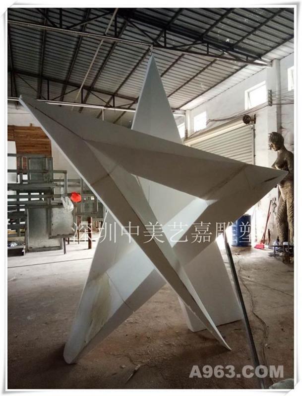 玻璃钢雕塑五角星制作