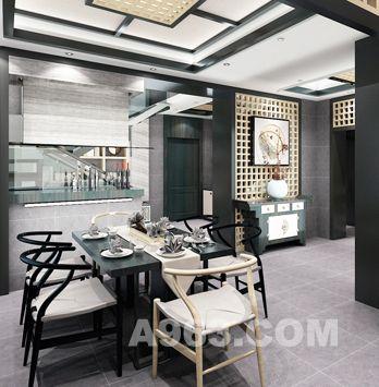 设计师将中式庭院的元素景观效果转移到室内中,设计师赋予空间的便是这样一种使身心都得到文化艺术陶冶的名门雅士的生活方式。