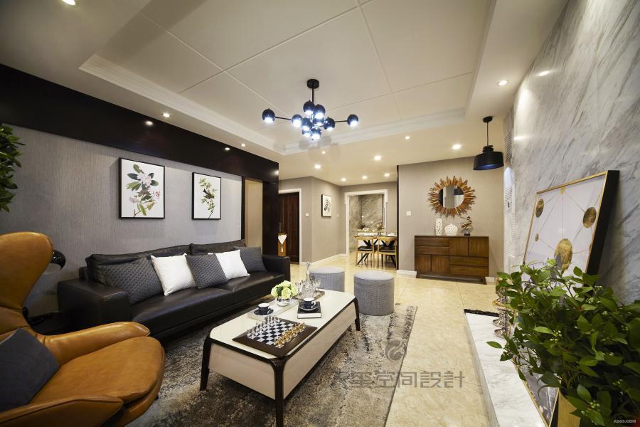 此居室整体采用中性色调,稳重,大气,却又不失品位,同时融入北欧设计感觉有令人眼前一亮的感觉。既能感受到现代风格的时尚感,同时还能看到国外设计带来的休闲感。