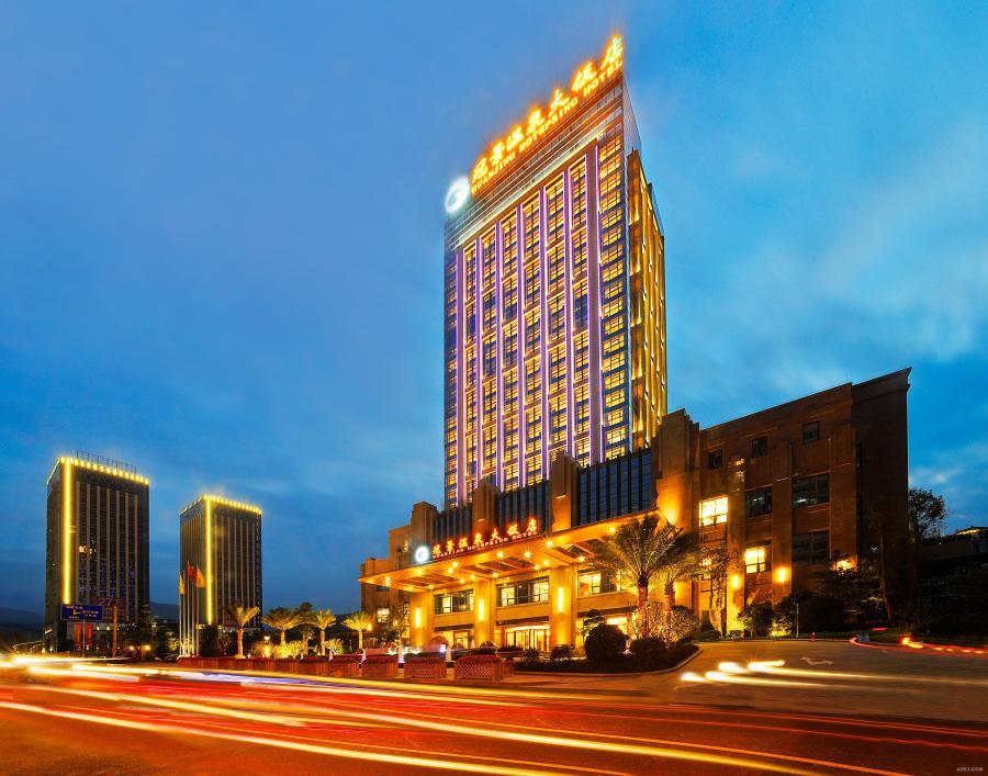 酒店建筑外观实景照片
