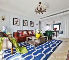 120平米简约美式温馨雅致三居室
