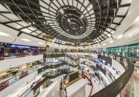 北京槐房万达广场购物中心步行街公共空间室内设计