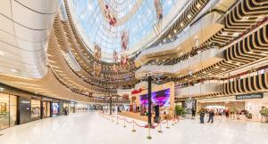 北京丰台万达广场购物中心步行街公共空间室内设计
