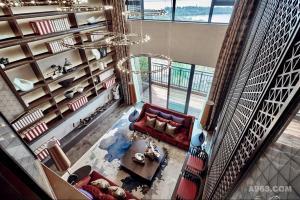 武汉华侨城墅区T12栋380㎡空中别墅样板间软装陈设设计