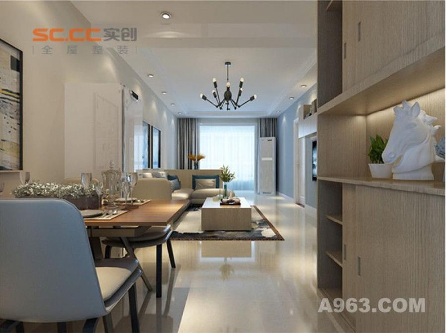 实创装饰丨汇君城90㎡两居室现代风格装修-入户玄关装修效果图