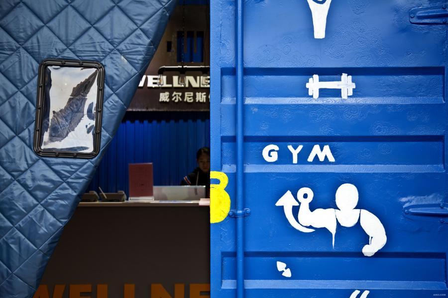 局部001:集装箱大门