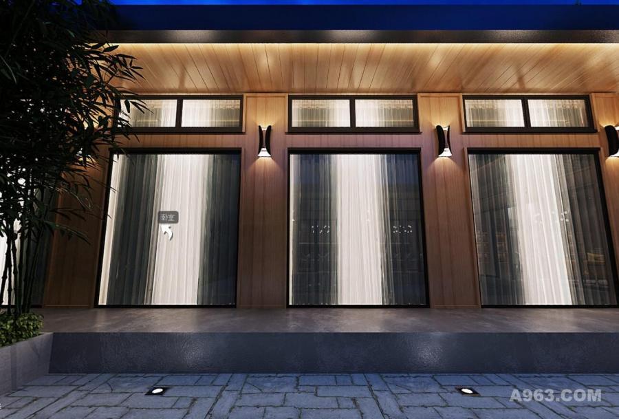 在卧室的设计上,采用了大面积的封闭落地玻璃,让居住者随时享受室外景色。拉开窗帘,让阳光和景色一拥而入。