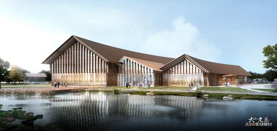 设计说明:   鱼米之乡——海门,作为江苏区域渔业,农耕