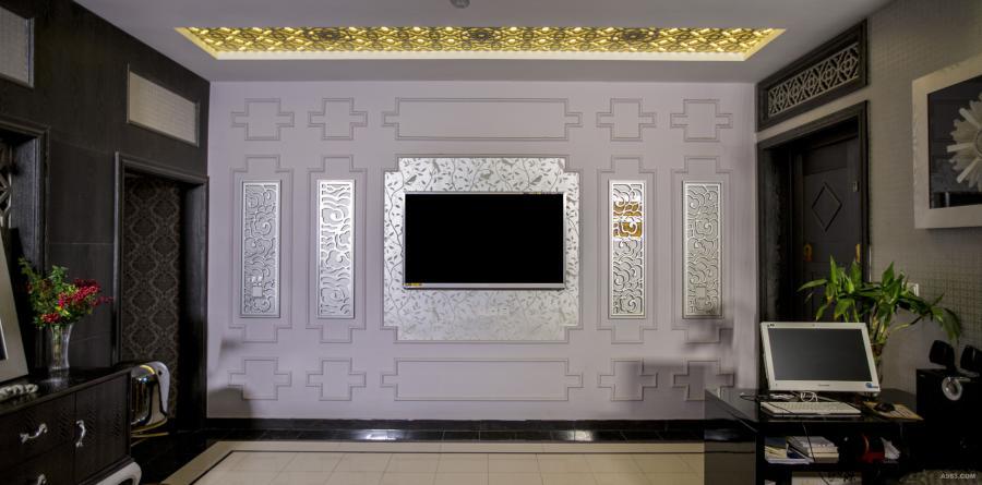 一楼客厅电视背景墙