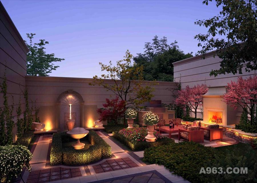 庭院景观 园林景观设计 庭院设计 庭院效果图请输入图片说明