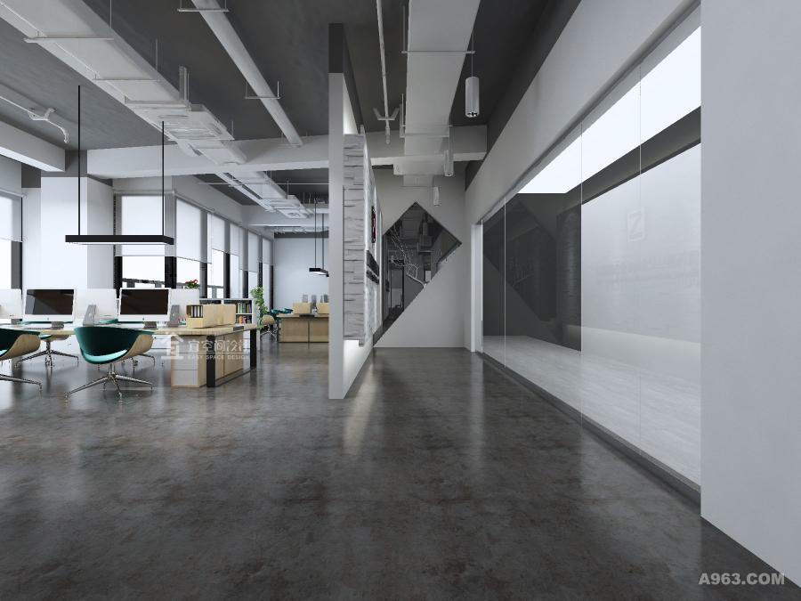 员工办公区域,向顾客展示着员工最专业且真实的工作场景;