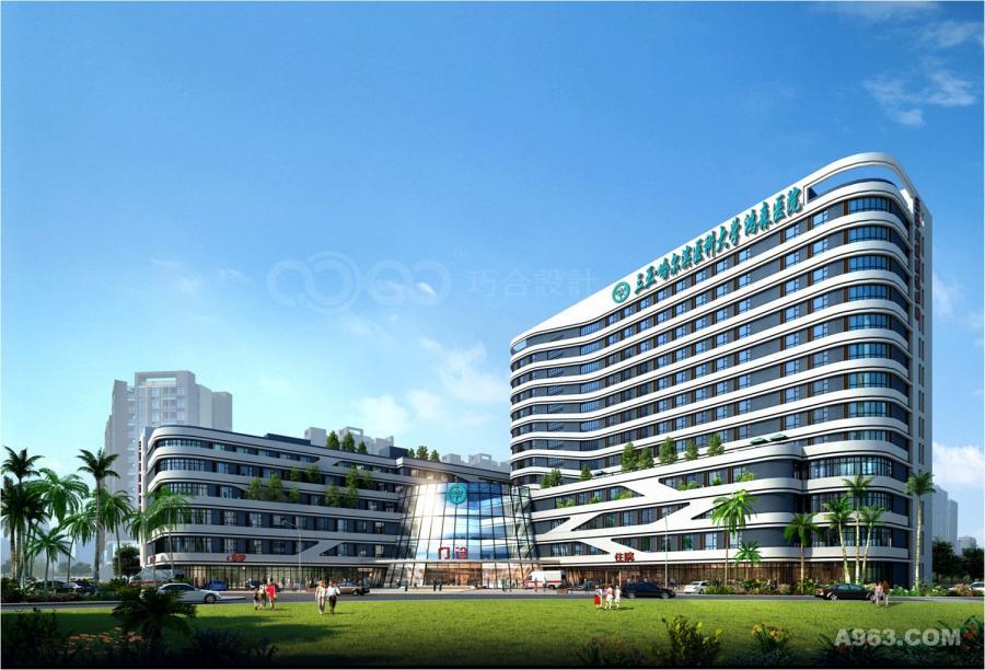 三亚鸿森医院建筑外观方案图