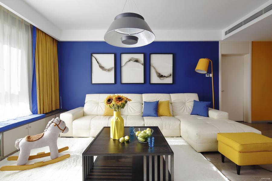 东湖湾平层家装装饰设计之客厅设计