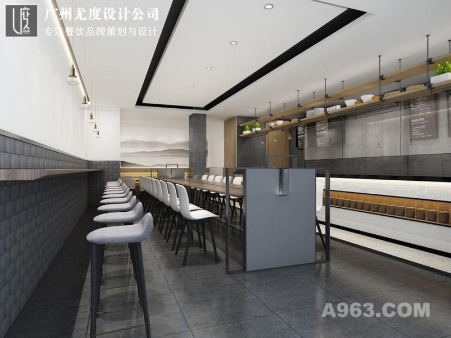 快餐店室内设计效果图