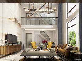 法兰西世家430㎡独栋别墅新中式风格装修设计