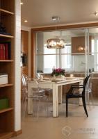120平私宅装饰设计都市自然平层2室2厅1厨1卫纯粹设计公司创视界
