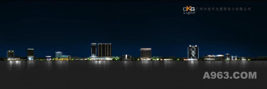 江西省洪城路广场夜景灯规划设计,道路建筑规划,城市设计规划,城市亮化设计,景观照明设计