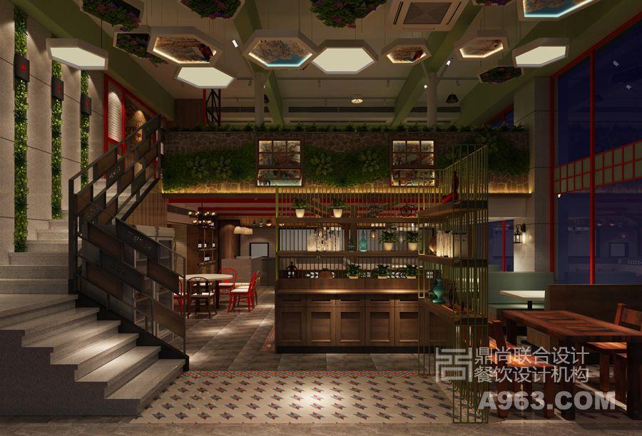 餐厅中庭设计
