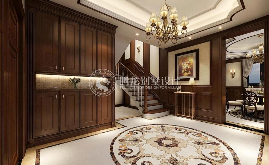 青浦康虹苑别墅项目装修现代美式风格设计,上海腾龙别墅设计师许文斌作品,欢迎品鉴