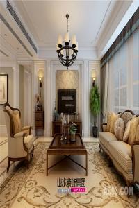 【山水装饰】湖畔辉映阁180平米美式家居空间设计案例