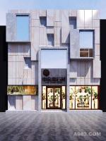 一套石材展厅的设计案例