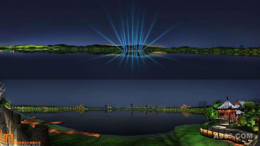 溪湖艾红谷,南昌滩,象湖,前胡,瑶湖段山庄照明工程说明26别墅龙凤外墙图片