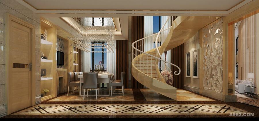 艺术弧形楼梯 方案二