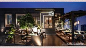 南宁火锅店装修设计:泰式火锅樾餐厅民歌湖店