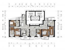 三口之家-136平米+209平米方案1