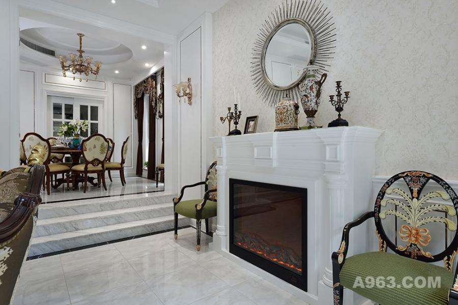 银亿领墅独栋别墅项目装修——法式风格设计——上海腾龙别墅设计作品