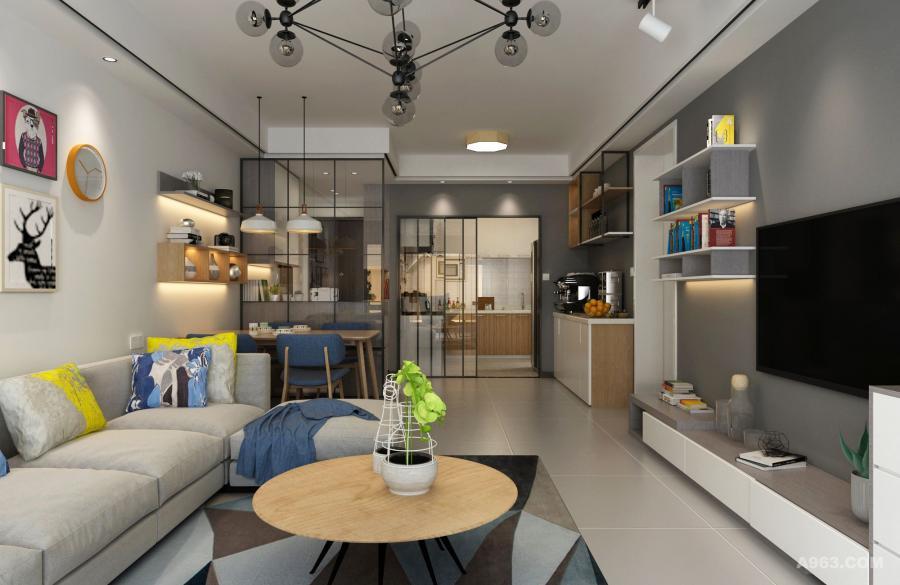 造型简洁,充分利用材料特性,展示空间的美。