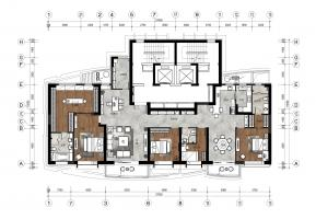 三口之家-136平米+209平米方案2