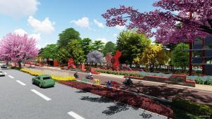红色文化景观道路设计