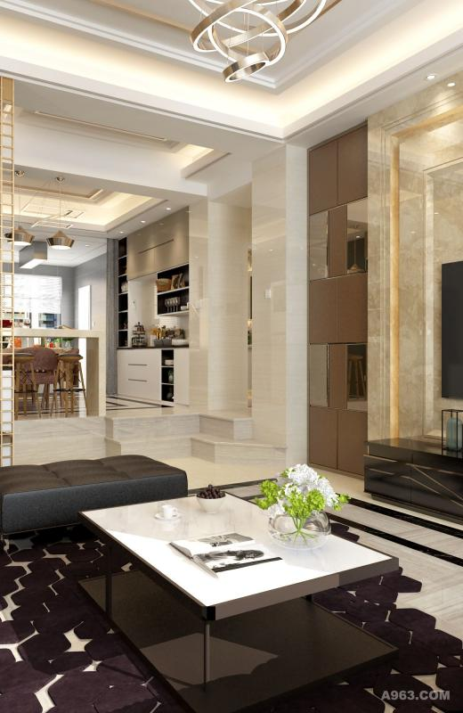 白色的基调使空间干净、高雅、整洁。