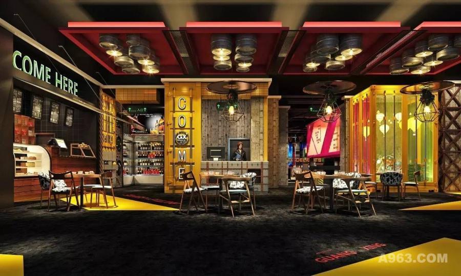 美食城设计|营造不一样的视觉冲击力【天霸设计分享】:巴星里音乐美食城设计效果图