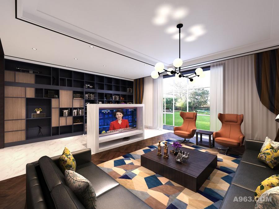 客厅方案效果图