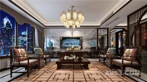 柏悦公馆235平米空间新中式风格设计案例