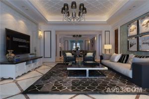 300平米平层空间——低调奢华简欧风格设计案例
