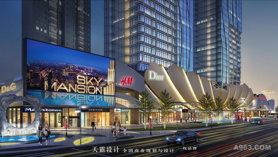 新颖商业综合体设计效果图与需求银川商业街设计的客户分享