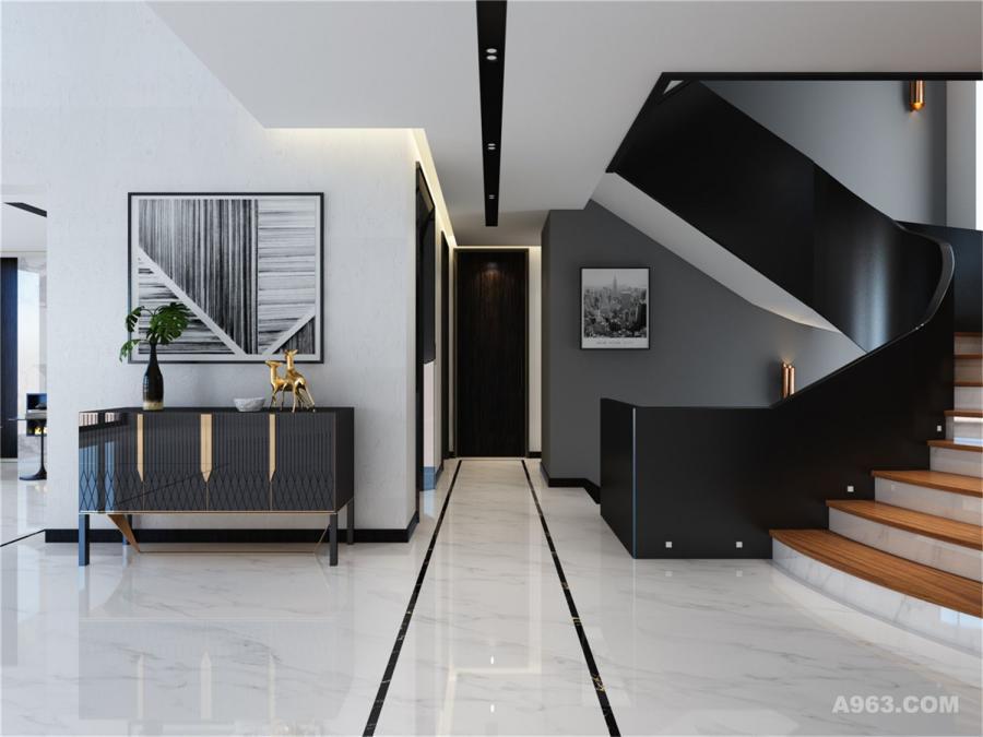 闵行御涛园别墅项目装修现代风格设计方案展示,上海腾龙别墅设计师刁振瑛作品,欢迎品鉴