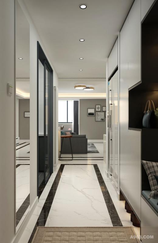 门厅过道上面点点光亮,带你回到温馨的家。