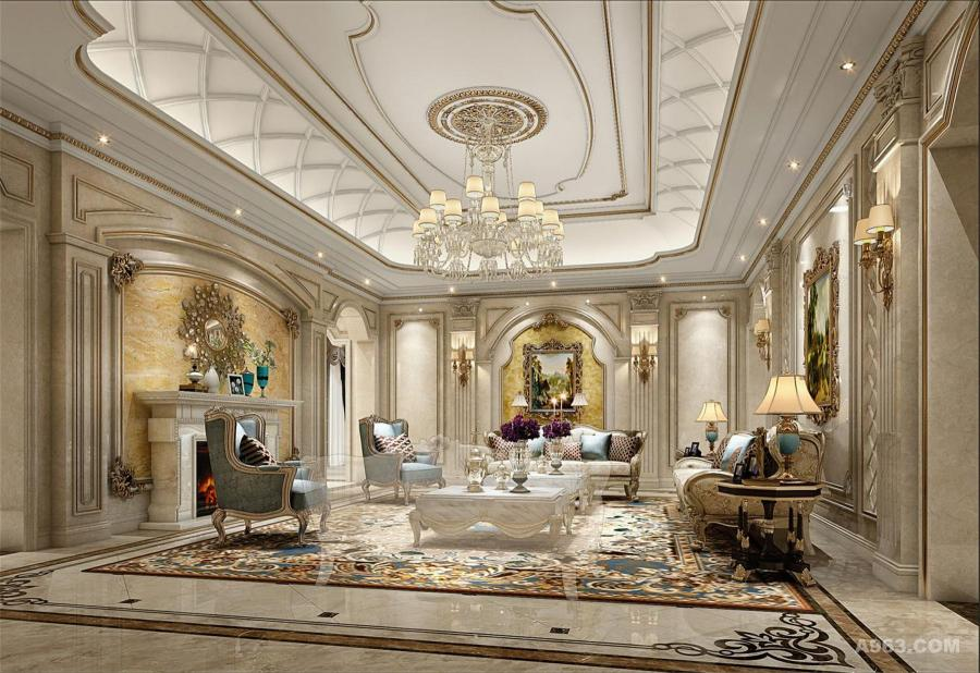 帕提欧香苑400平别墅装修欧美风格设计!