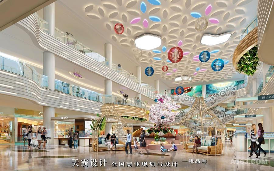 杭州商场设计方案由广东天霸设计创作更具创意与潜力