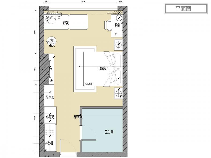 雁荡山庄酒店客房设计