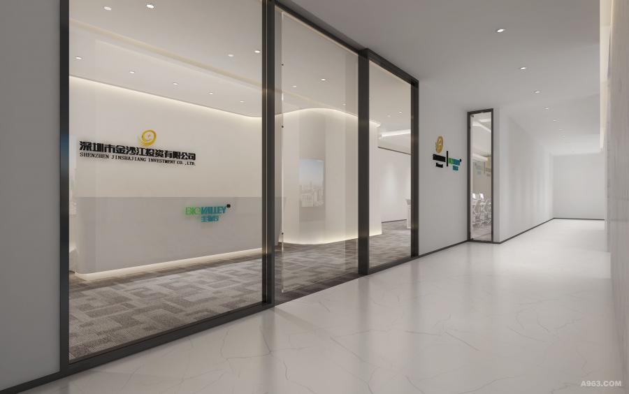 """过道大尺幅的""""透视"""",让员工和来访者在空间中感受企业理念所蕴含的智慧和精神内涵。"""